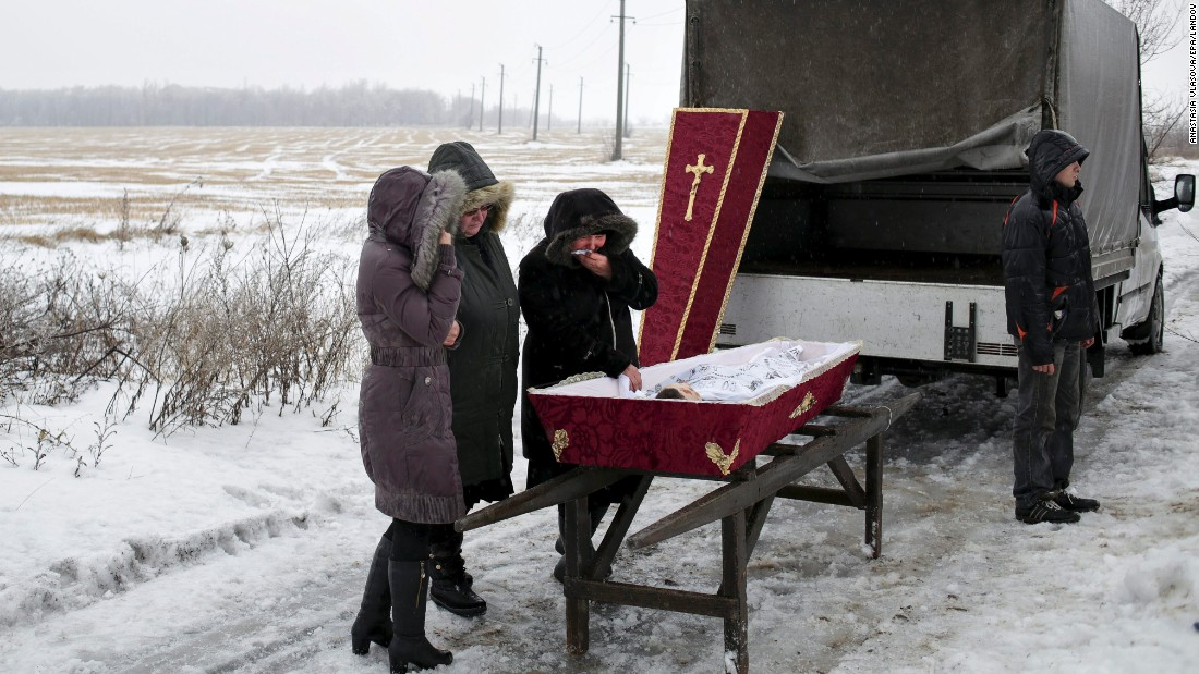 "Relatives attend the funeral of 11-year-old Artem Lytkin, who was killed during shelling in Debaltseve, Ukraine, on Monday, January 19. <a href=""http://www.cnn.com/2015/01/23/world/gallery/ukraine-crisis-2015/index.html"" target=""_blank"">Fighting between Ukrainian troops and pro-Russian rebels</a> has left thousands dead since mid-April."