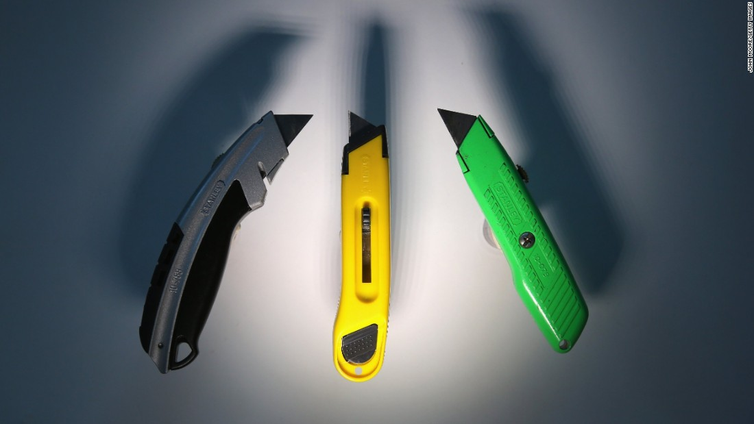 And a colorful array of box cutters.