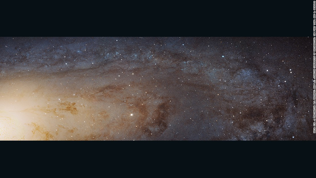 NASA also released this remarkable bird's-eye panorama of part of the Andromeda galaxy last week. This is clearest image ever taken of our galactic next-door neighbor.