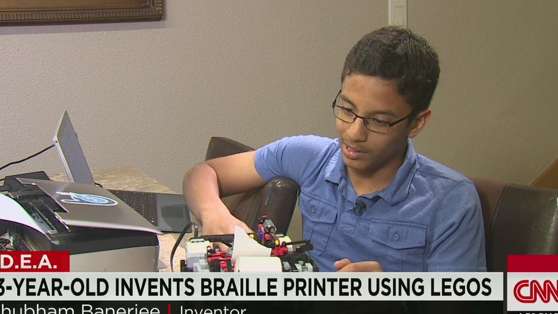 13-year-old invents braille printer with Legos