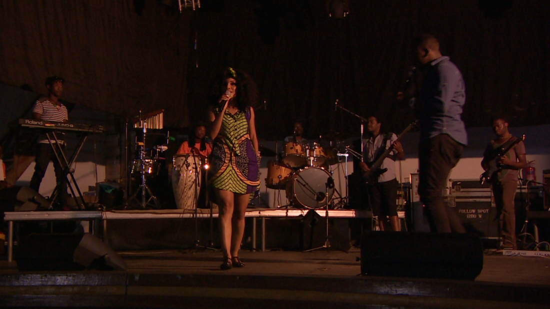 Neyma during the rehearsal for an all-Marrabenta concert in Maputo, which celebrated her 15th anniversary as an artist.