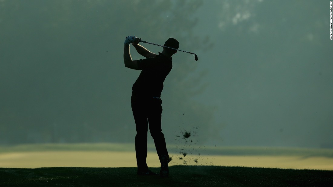 Oliver Fisher plays a shot Thursday, January 22, during the second round of the Qatar Masters in Doha, Qatar.