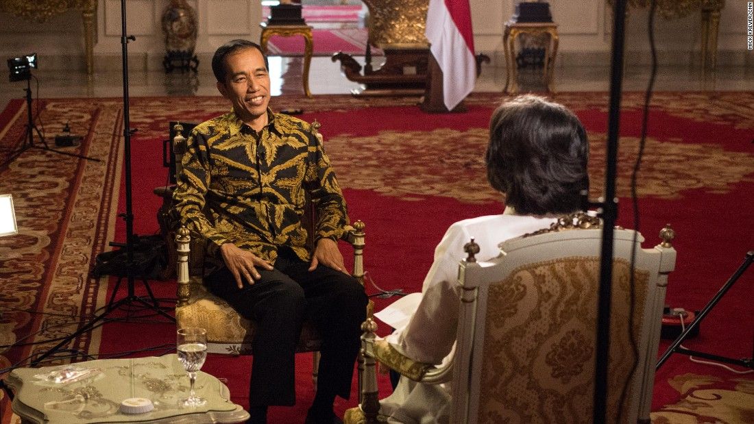 "Jokowi's presidency has not been without controversy. Three months into his term, Widodo is facing his first big administrative crisis.<br /><br />His choice for police chief, Budi Gunawan, was a favorite of the head of Widodo's political party and benefactor, former President Megawati Sukarnoputri. (Unusually for an Indonesian President, Widodo does not head a political party.)<br /><br />Days after Widodo announced the nomination, Gunawan was indicted by the country's anti-corruption commission.<br /><br />In apparent retaliation, police arrested the deputy chief of the country's anti-corruption body.<br /><br />""Our commitment still is to eradicate corruption,"" President Widodo told Amanpour, though he has only delayed -- not called off -- Gunawan's inauguration as police chief."
