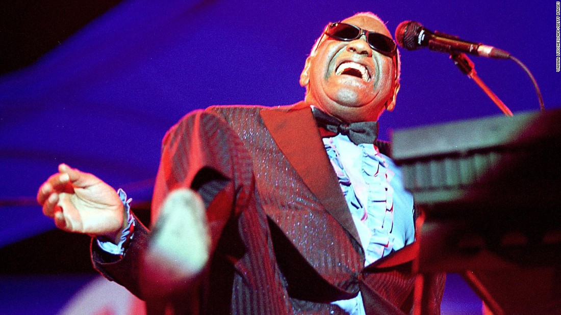 "The great Ray Charles had a chart resurgence towards the end of his life, with his 2004 album, ""Genius Loves Company,"" hitting No. 1 just after he died at age 73. His version of ""America the Beautiful,"" perhaps the greatest performance of that song, was heard frequently after 9/11, and he was the subject of a movie biography, ""Ray,"" for which Jamie Foxx won an Oscar."
