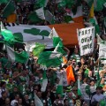 celtic fans flags