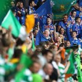 old firm fans blue green