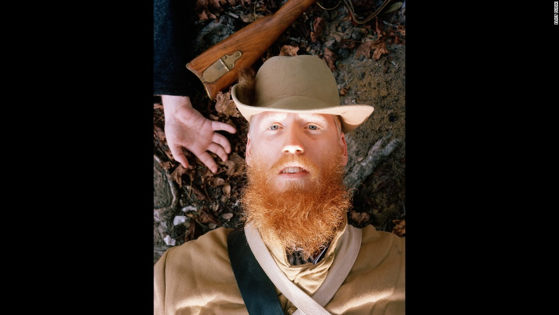 Eliot Dudik photographs Civil War re-enactors pretending to lose their lives on the battlefield. Ian Dillinger, 16th South Carolina, said he had died 45 times in re-enactments over the years.