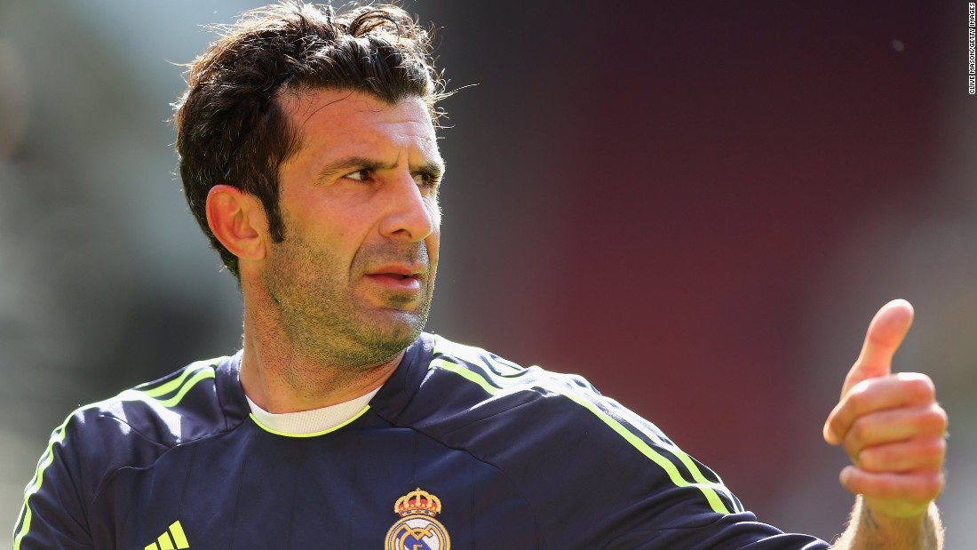 Former Real Madrid and Barcelona star Luis Figo was one of the ex-pros asked to play for the Kuwaiti All-Stars at the reopening of Jaber Al-Ahmad International Stadium.