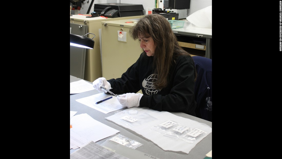 Volunteer archaeologist Linda Carnes-McNaughton helped examine the medical equipment found on the shipwreck.