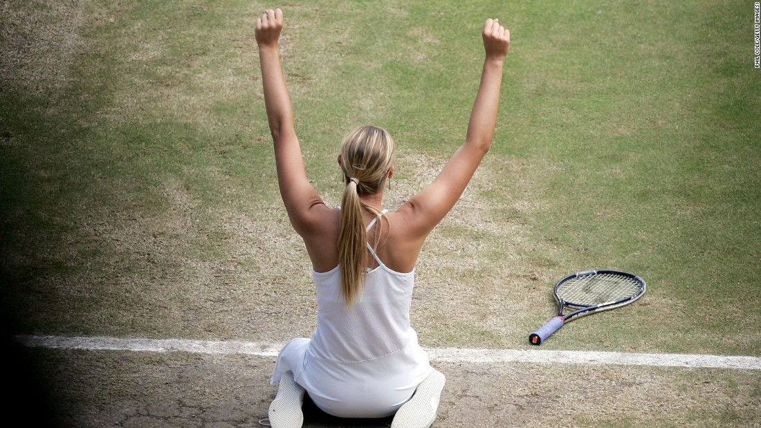 And Sharapova opened her grand slam account against Williams at Wimbledon in 2004.