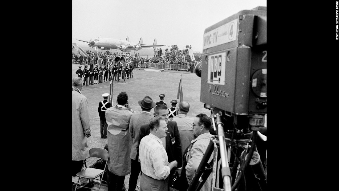 A presidential plane named Columbine III ferried Dwight D. Eisenhower, Britain's Queen Elizabeth II and Prince Philip to Washington in November 1957.