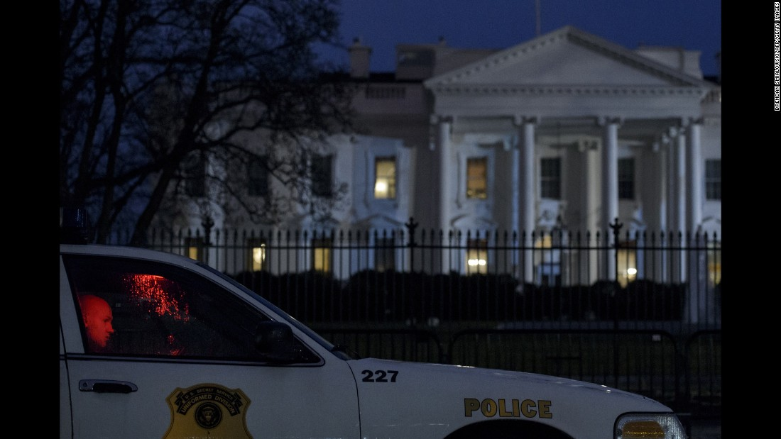 "A member of the Secret Service's Uniformed Division sits in his car outside the White House after a small drone <a href=""http://www.cnn.com/2015/01/26/politics/white-house-device-secret-service/"" target=""_blank"">crashed on the premises</a> Monday, January 26. The drone posed no threat, said a spokesman for President Barack Obama, and Obama was in India at the time. The drone's owner and operator works for the National Geospatial-Intelligence Agency, a government entity with mapping and national security duties. The agency confirmed that one of its employees was the operator of the drone, saying the employee was off-duty and the drone flight was not work-related. He was interviewed by Secret Service agents and has been fully cooperative, a Secret Service spokesman said."