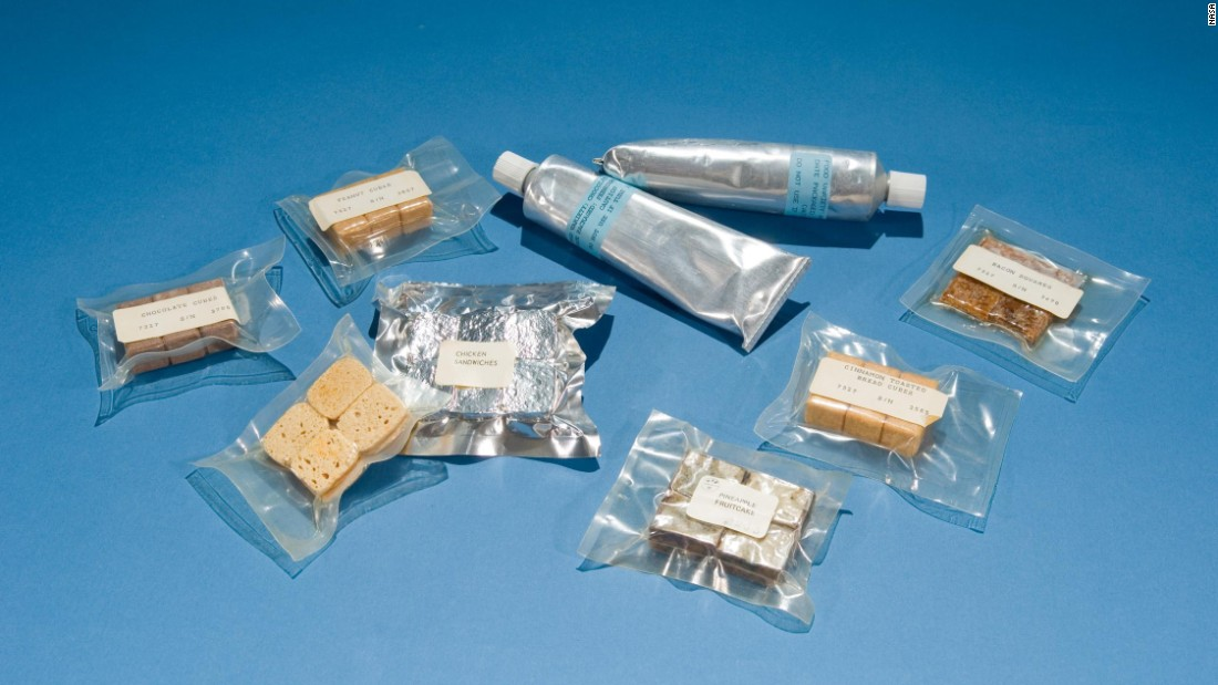 "Early space food from the Mercury and Gemini missions (1961-1969), including meals served in toothpaste-style aluminum tubes and gelatin-covered cubes, which were ""almost universally despised"" by astronauts, according to NASA."