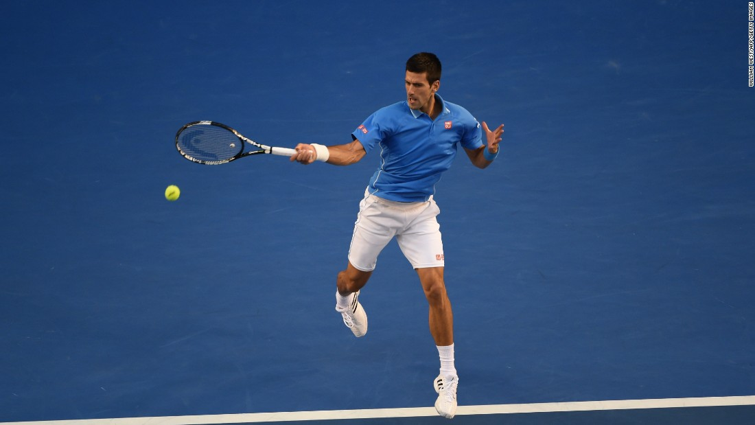 Djokovic's forehand was working early on and he played flawless tennis the first five games.