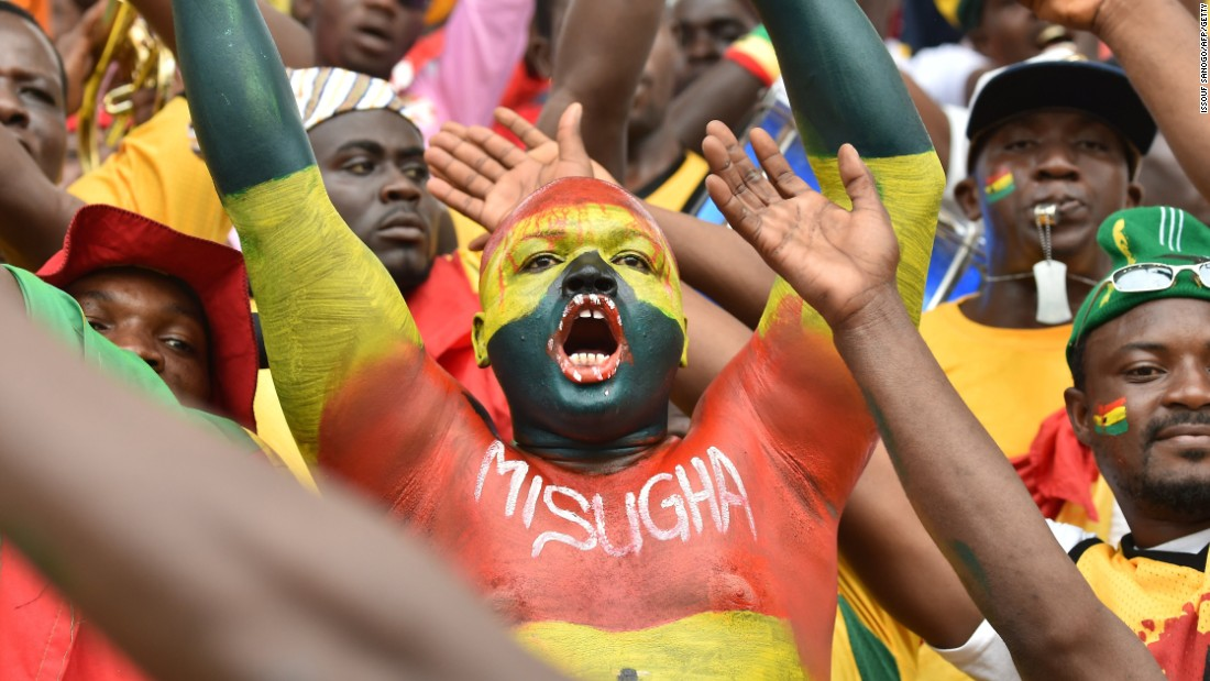 Ghana fans were left to celebrate after seeing their side thrash Guinea 3-0 in the Africa Cup of Nations quarterfinals.