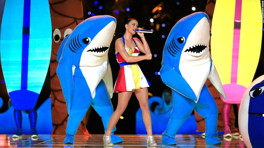 "These dancing sharks (especially the left one) became an Internet meme after dancing with Katy Perry during <a href=""http://www.cnn.com/2015/02/01/living/feat-super-bowl-halftime-show/index.html"" target=""_blank"">the Super Bowl halftime show</a> in February."