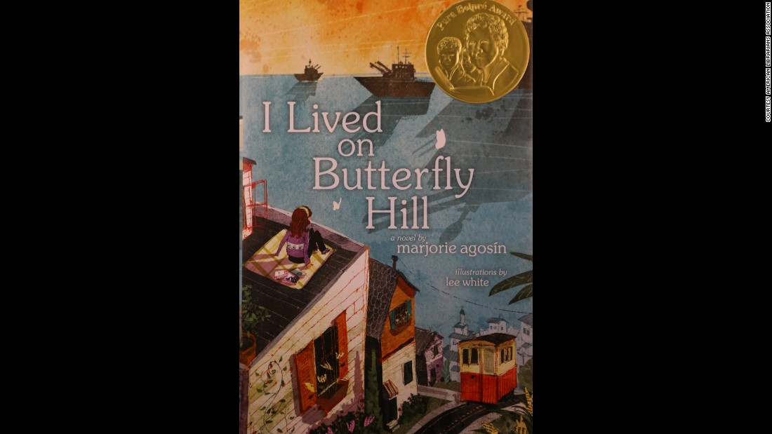 """I Lived on Butterfly Hill"" is the 2015 Pura Belpré Author Award winner. The book is written by Marjorie Agosín and illustrated by Lee White."
