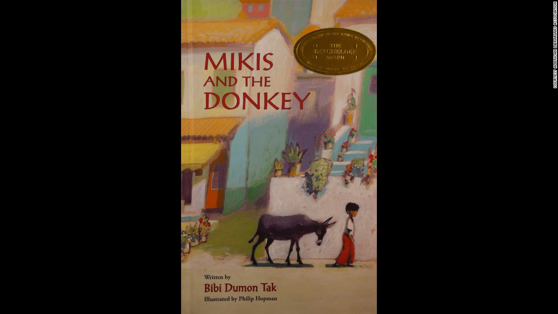 """Mikis and the Donkey,"" written by Bibi Dumon Tak and illustrated by Philip Hopman, is the 2015 Batchelder Award winner."