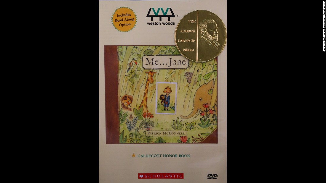"Paul R. Gagne and Melissa Reilly Ellard, Weston Woods Studios Inc., producers of ""Me ... Jane,"" are the Carnegie Medal winners."
