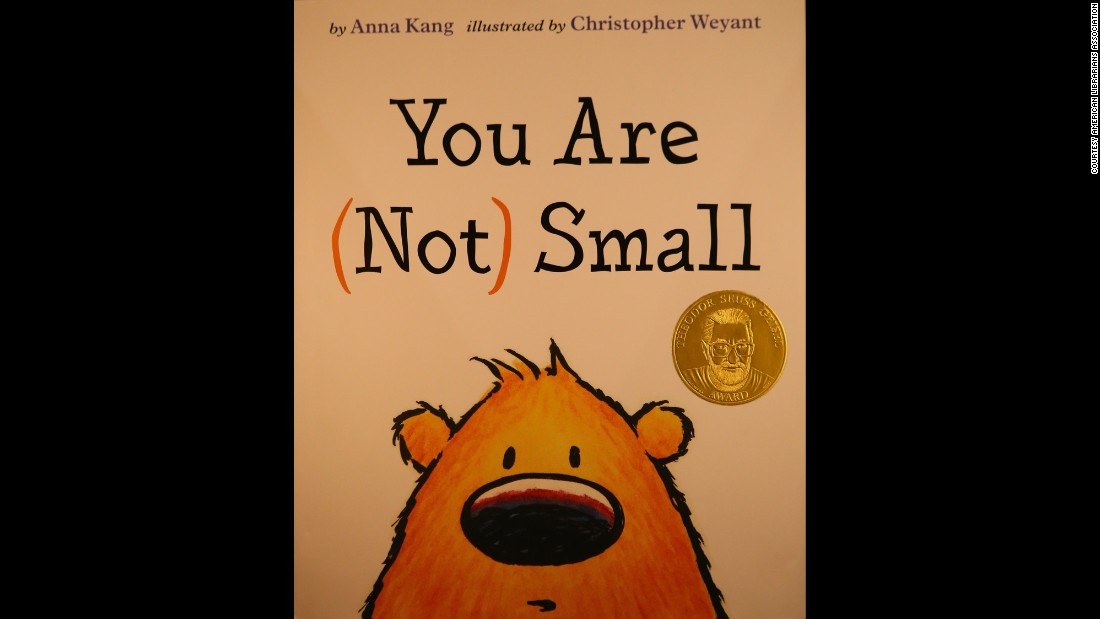 """You Are (Not) Small,"" written by Anna Kang and illustrated by Christopher Weyant, is the Seuss Award winner."