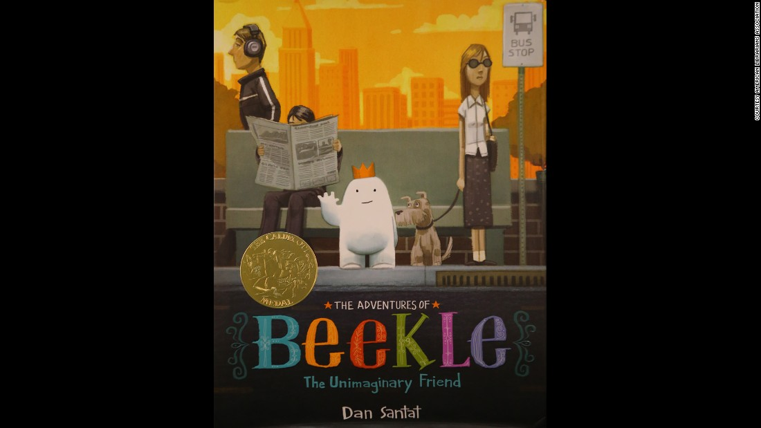 """The Adventures of Beekle: The Unimaginary Friend,"" illustrated by Dan Santat, is the 2015 Caldecott Medal winner."
