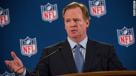 NFL Commissioner Roger Goodell says the league is making a commitment to women in executive jobs.
