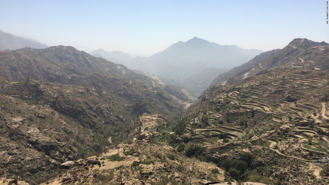 The mountains on the Saudi-Yemeni border are beautiful -- but difficult to patrol.