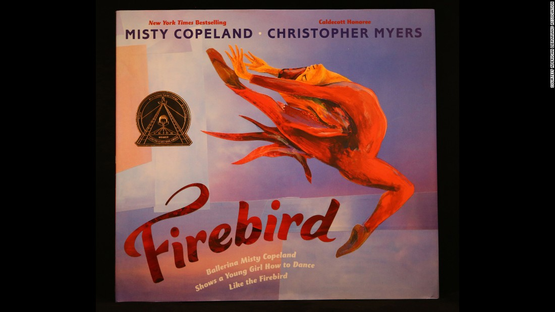 """Firebird,"" illustrated by Christopher Myers, is the Coretta Scott King Illustrator Book winner."