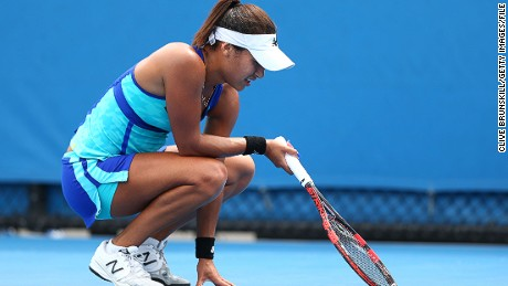 "Heather Watson created a stir at the Australian Open last month after insinuating her loss was down to ""girl things."""