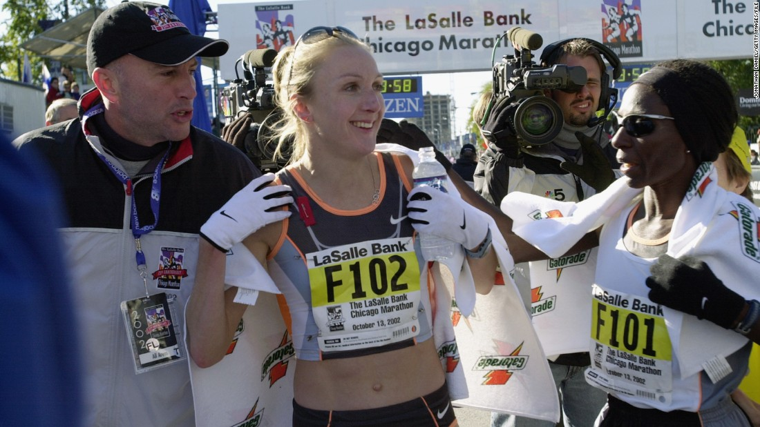 Every woman is different and menstruation needn't be the deciding factor on the playing field. British runner Paula Radcliffe told the BBC​ she had her period when she broke the world record at the Chicago Marathon in 2002 (pictured).