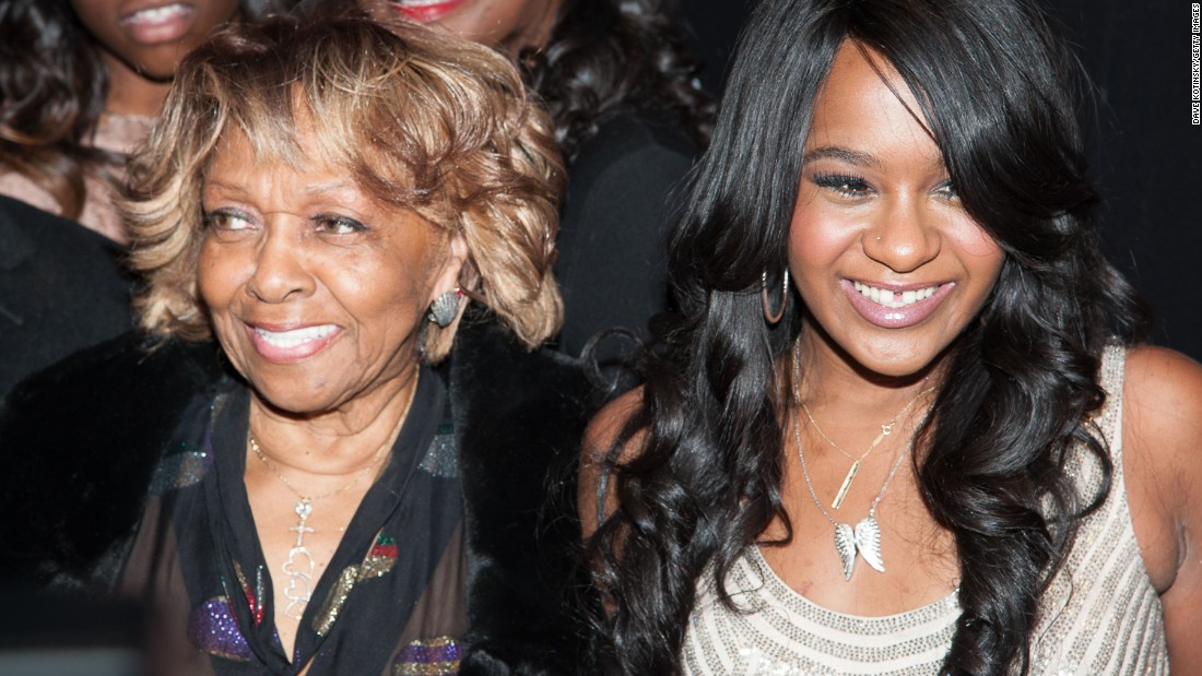 Bobbi Kristina and her grandmother Cissy Houston attend a premiere party for the show in October 2012.