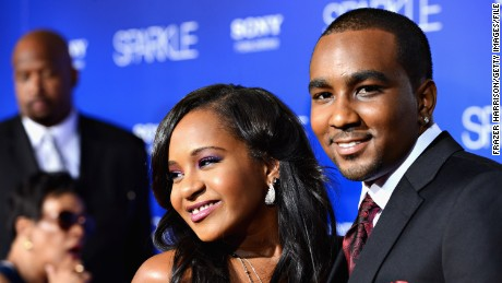 "HOLLYWOOD, CA - AUGUST 16:  Bobbi Kristina Brown (R) and Nick Gordon arrive at Tri-Star Pictures' ""Sparkle"" premiere at Grauman's Chinese Theatre on August 16, 2012 in Hollywood, California.  (Photo by Frazer Harrison/Getty Images)"