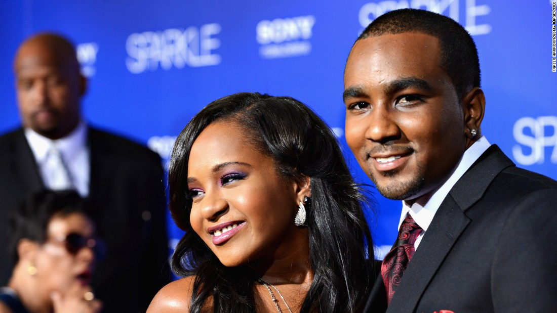 "Bobbi Kristina Brown and Nick Gordon arrive at the 2012 movie premiere of ""Sparkle"" in Hollywood. Brown and Gordon <a href=""http://www.cnn.com/2013/07/10/showbiz/celebrity-news-gossip/houston-daughter-engaged-ew/"">reportedly were engaged</a> in 2013. An attorney for her father <a href=""http://www.cnn.com/2015/02/04/entertainment/whitney-houston-daughter-bobbi-kristina-hospitalized/"">says the two never married</a>, contrary to some reports."