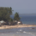 Pemba Mozambique Beache With Shacks