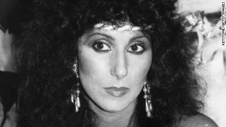Caption:1981: American singer and actress Cher (Cherilyn Sakarsian La Pier). (Photo by Keystone/Getty Images)