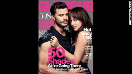 Dornan and Johnson on the March cover of Glamour magazine.