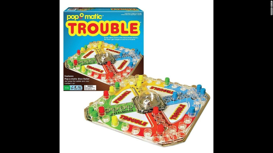 Trouble was introduced in the 1960s and was particularly popular in certain houses for its push-down dice popper.