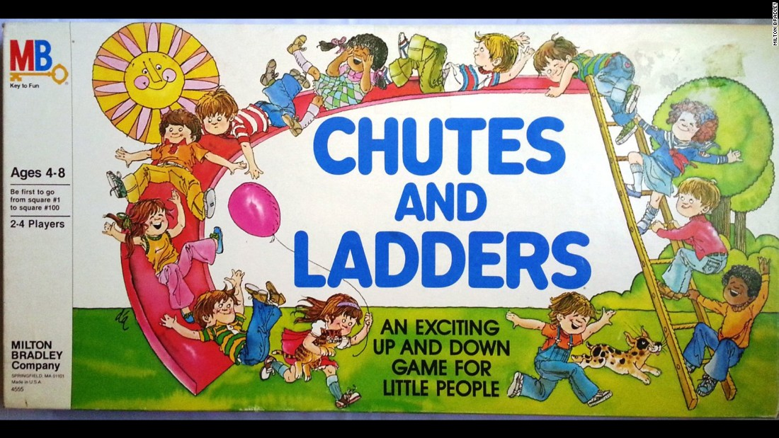 Chutes and Ladders is based on an ancient Indian board game that eventually made its way to England as Snakes and Ladders.