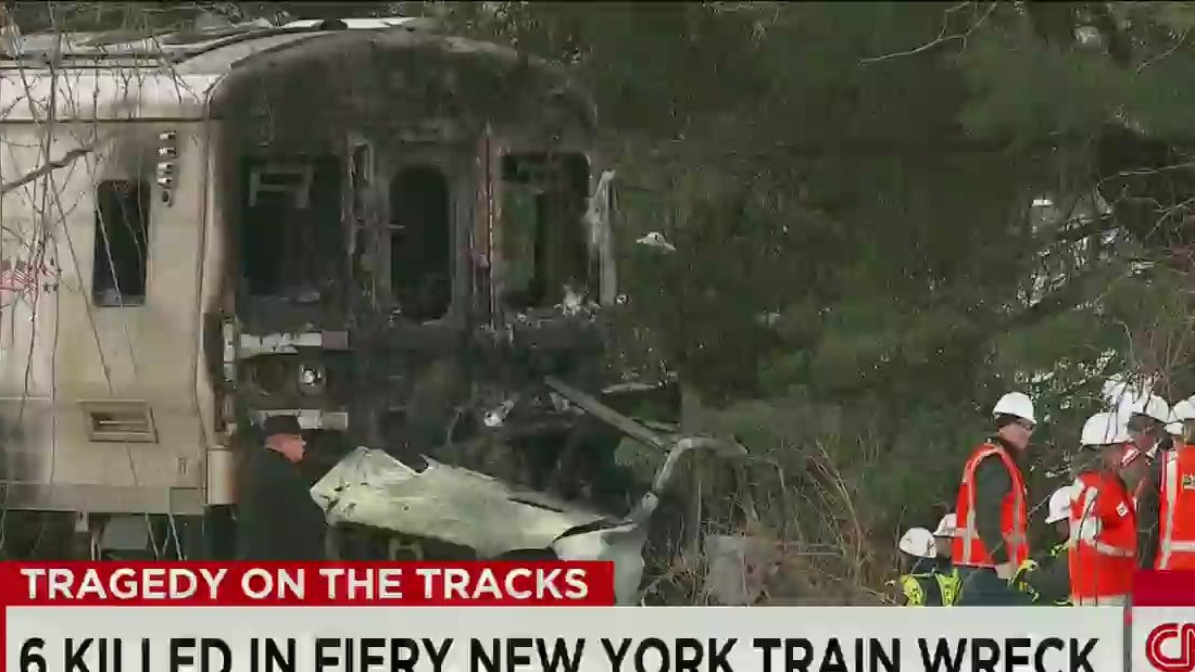 6 killed when train hits SUV in New York