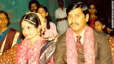 The author's parents at their wedding in 1985.