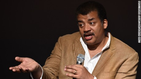 Neil deGrasse Tyson, astrophysicist, 'Cosmos' television show host and Frederick P. Rose Director of the Hayden Planetarium at the American Museum of Natural History speaks August 4, 2014 after a screening of James Cameron's 'Deepsea Challenge 3D' film at the museum in New York. AFP PHOTO/Stan HONDA (Photo credit should read STAN HONDA/AFP/Getty Images)