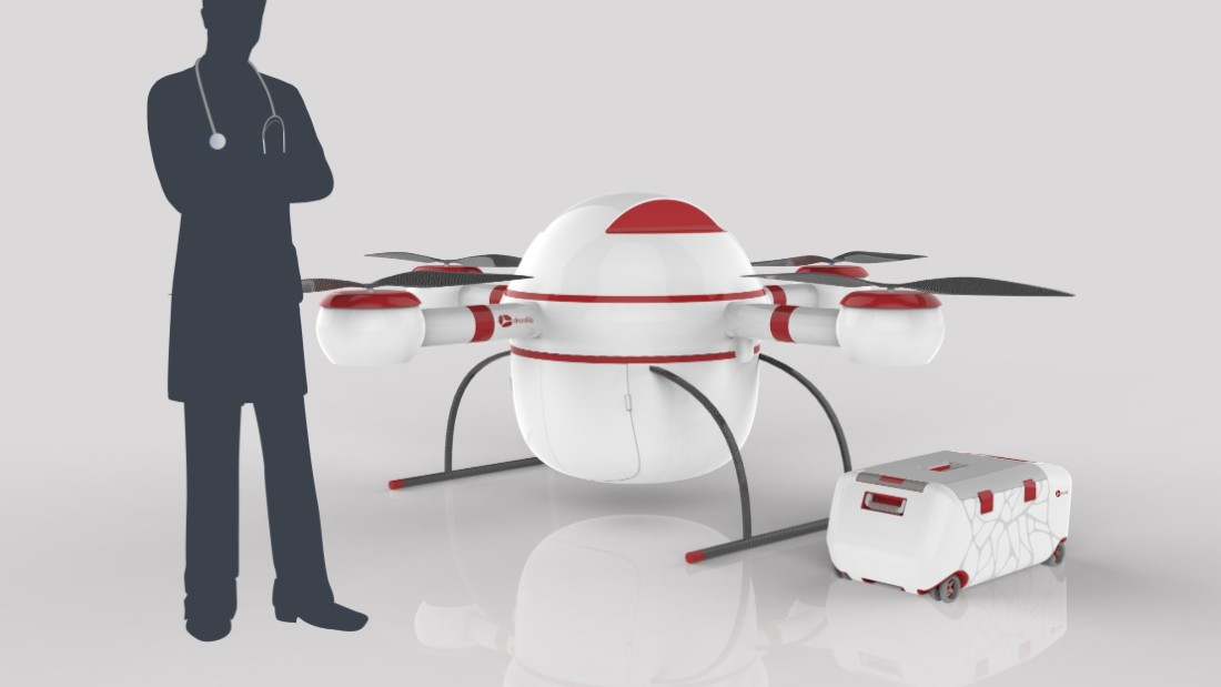 """Dronlife"" by Innova, a team of Spanish university students, seeks to navigate the problematic field or organ transportation. Donated organs only last a matter of hours outside the body, and a traffic jam can be a matter of life and death for the recipient. Their solution is to transport organs by air in a temperature-controlled vessel, greatly hastening the process and potentially saving lives."
