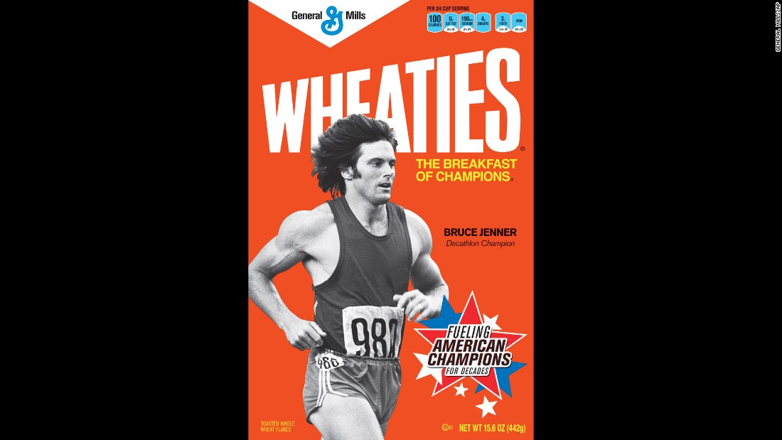 Wheaties featured retro images of Olympic champions, including Jenner, in 2012.