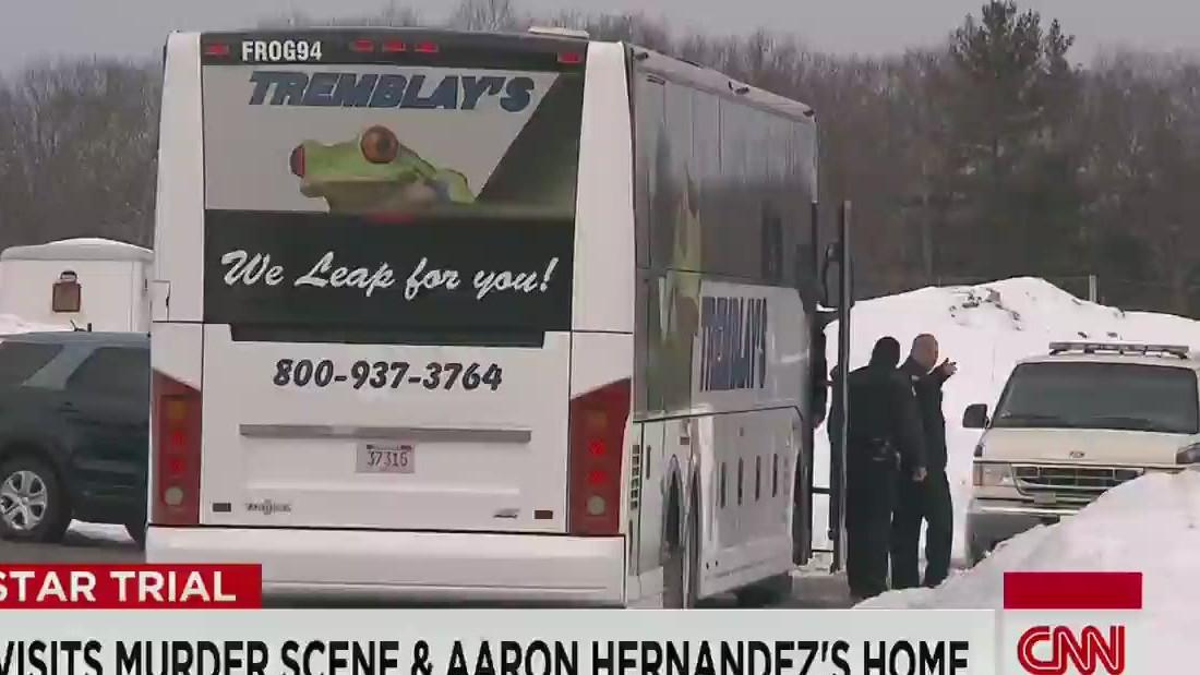 Jury takes a field trip to Hernandez's home