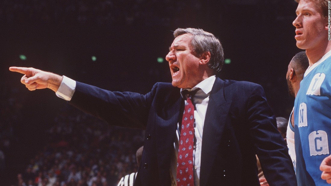 "University of North Carolina head basketball coach<a href=""http://www.cnn.com/2015/02/08/us/former-north-carolina-tarheels-coach-dean-smith-died/index.html"" target=""_blank""> Dean Smith </a>died Saturday evening at the 83, according to the University of North Carolina's official athletics website. Here's a look back at one the greatest influences in college basketball:"
