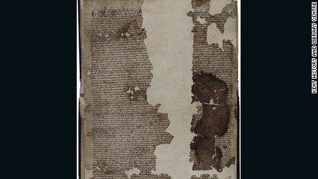 A version of the Magna Carta, published in 1300, was found by chance in a small English town of Sandwich.