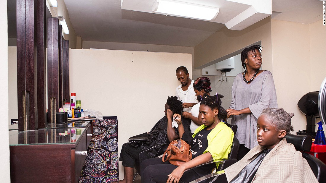 Ren Zen Up is one of the few Ivory Coast salons that specializes in natural hair. Owner Azi Oyourou says a lot of women don't know how to style natural hair because they're so used to using relaxer.