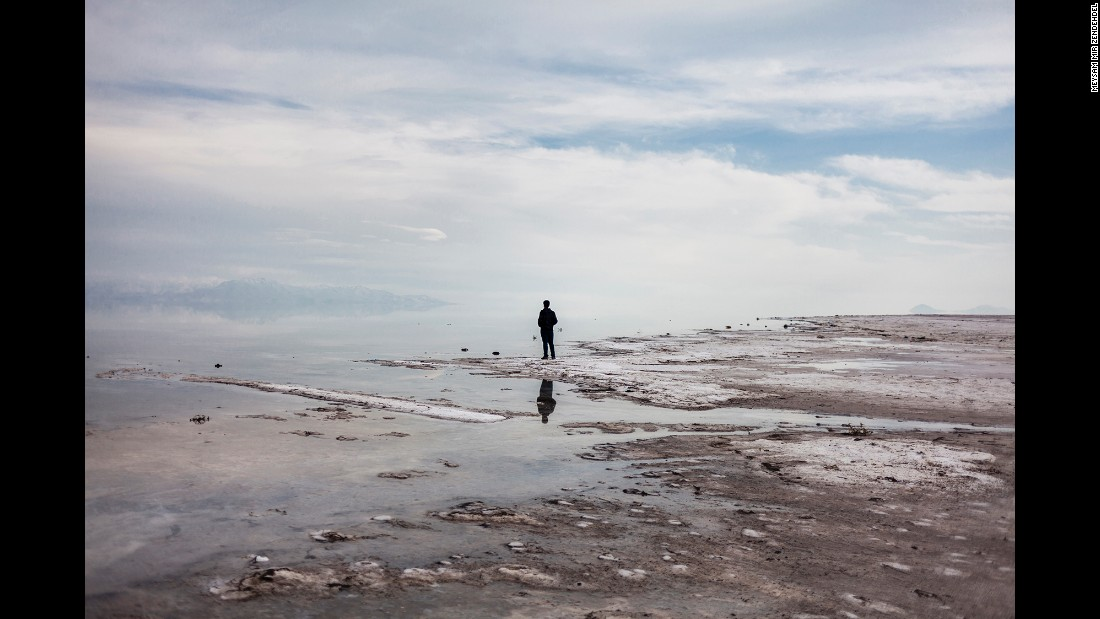 """When you walk on dried crystal of salt, in the absolute silence, you hear just the sound of cracking salt crystal,"" Zendehdel said. ""You remember that the sound of water in this area had been people's life, and it's very disappointing that that silence of the lake has silenced the life."""