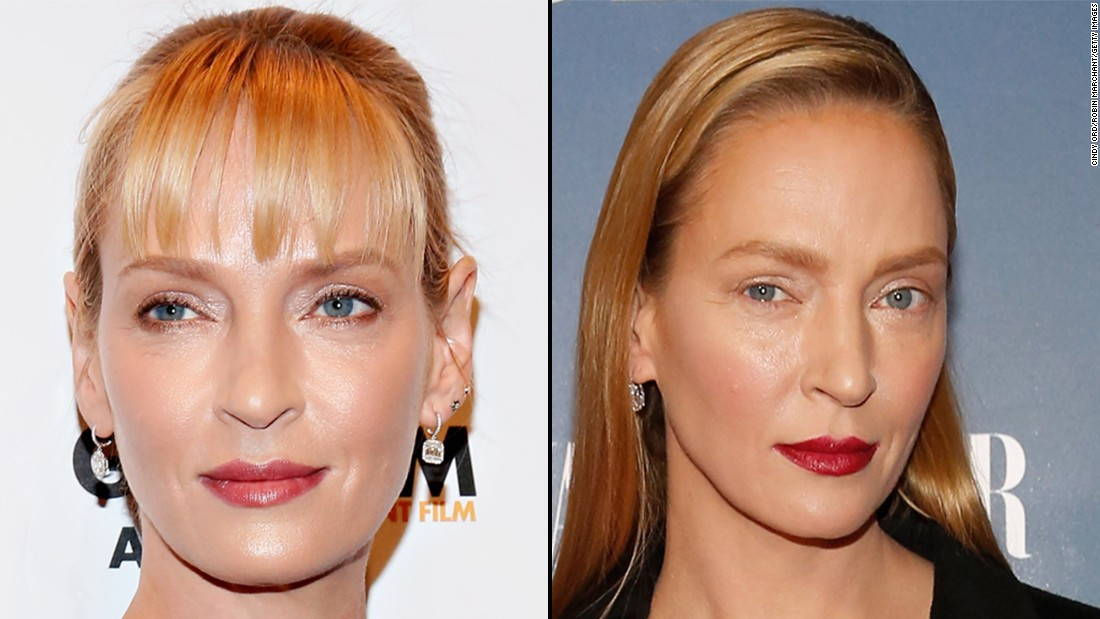 "Actress Uma Thurman had some doing double-takes at the premiere for ""The Slap"" on Monday, February 9. The actress, 44, plays a TV writer in the U.S. update of the Australian show."