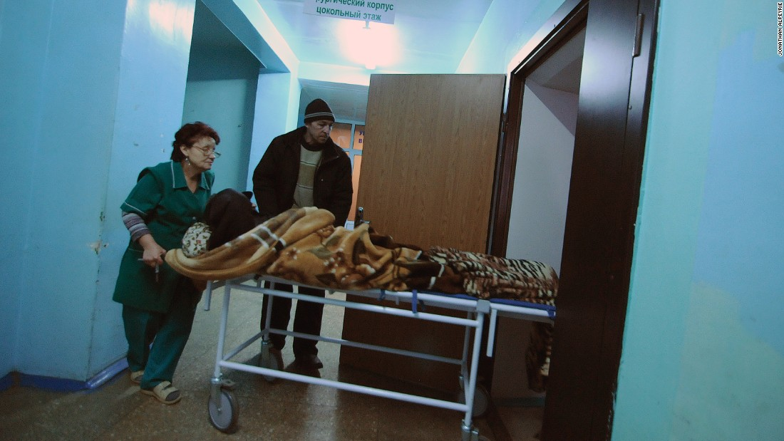 Wounded residents have poured into the local hospital for treatment during the prolonged fighting for control of Debaltseve. More than  540 were injured in the final three weeks of January.